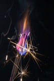 Bright flames and sparks Stock Photography