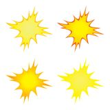 Bright Flashes. Four bright flash or sparkle images Stock Photography