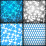 Bright flashes. On a blue background Stock Image