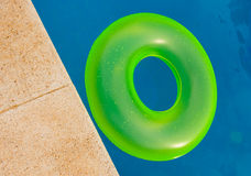 Bright floater on the pool Royalty Free Stock Photos