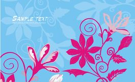 Bright floral background. Vector drawing with bright flowers Stock Image