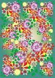 Bright floral background Royalty Free Stock Image