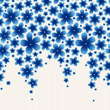 Bright floral border on light background. Royalty Free Stock Photo