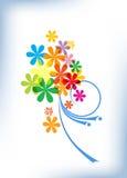 Bright floral composition Stock Photos