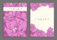 Bright floral cover template Stock Photography