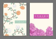 Bright floral cover template Stock Image