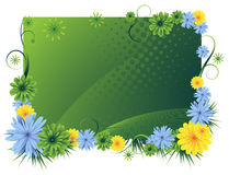 Bright floral frame. Bright floral scope.  Royalty free stock   illustration Stock Photo