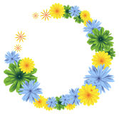 Bright floral frame Stock Images