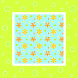 Bright floral frame Royalty Free Stock Photography