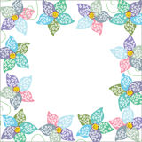 Bright floral frame,  background for your design Royalty Free Stock Photo