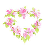 Bright floral heart Royalty Free Stock Photography