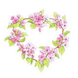 Bright floral heart Royalty Free Stock Image