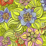 Bright floral illustration Stock Images