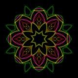 bright floral lights mandala Στοκ φωτογραφία με δικαίωμα ελεύθερης χρήσης