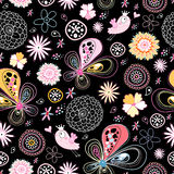 Bright floral pattern Stock Images