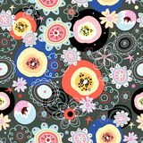 Bright floral pattern Stock Photography
