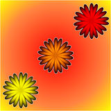 Bright Floral Pattern. A geometric floral design Royalty Free Stock Image
