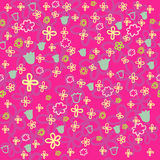 Bright floral pattern. Bright colorful floral pattern in vector Royalty Free Stock Images