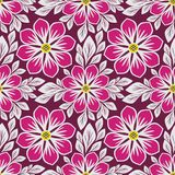 Bright floral Pattern with beautiful pink Flowers Royalty Free Stock Photos