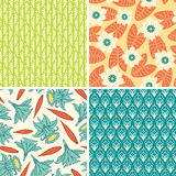 Bright  floral patterns Royalty Free Stock Photos