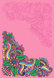 Bright floral patterns Royalty Free Stock Image