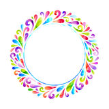 Bright floral round frame. Royalty Free Stock Photos