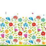 Bright floral seamless. Royalty Free Stock Image