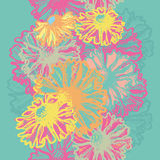 Bright floral seamless border Royalty Free Stock Images