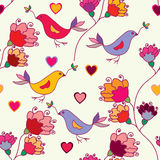 Bright floral seamless pattern Stock Photography