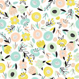Bright floral seamless pattern Royalty Free Stock Images