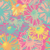 Bright floral seamless pattern Royalty Free Stock Photo