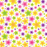 Bright floral seamless pattern on light background. Royalty Free Stock Photo