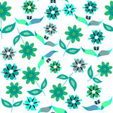 Bright  floral seamless pattern, and seamless patt Royalty Free Stock Photo
