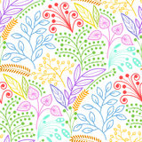 Bright floral seamless pattern Stock Images