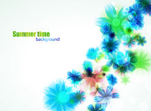 Bright floral summer background. Abstract vector illustration Royalty Free Stock Image