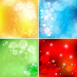 Bright floral vector set Royalty Free Stock Photos