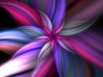 Bright Flower. Brightly colored pastel fractal flower Stock Photo