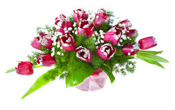 Bright flower bouquet of tulips Royalty Free Stock Photos
