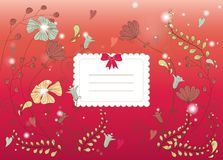 Bright flower card Stock Photo