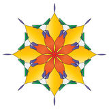 Bright Flower Mandala Royalty Free Stock Photo