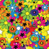 Bright flower pattern vector illustration
