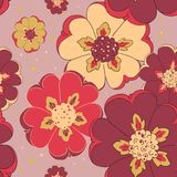 Bright flower seamless pattern Stock Images
