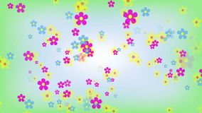 Bright Flowers Animated Background Stock Images