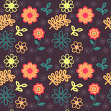 Bright Flowers Background. Bright flowers pattern, seamless texture Stock Image
