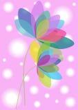 Bright flowers illustration Royalty Free Stock Photo