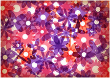 Bright flowers retro background Royalty Free Stock Images