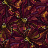 Bright flowers seamless backround Stock Photography