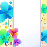 Bright flowers vector background greeting card Stock Photography