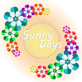 Bright flowers wishing a sunny day Royalty Free Stock Image