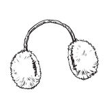 Bright fluffy fur ear muffs Royalty Free Stock Image
